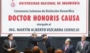 UNI entregó distinción de Doctor Honoris Causa al presidente Vizcarra