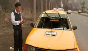 Costa Verde: piedra cayó desde acantilado y destrozó auto en movimiento