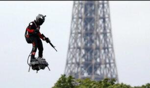 Francia: 'soldado volador' intentará cruzar el Canal de la Mancha