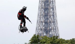 """Francia: """"Soldado volador"""" no logra cruzar el Canal de la Mancha"""