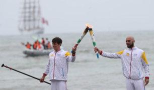Lima 2019: antorcha panamericana llega a la Costa Verde desde mar del Callao