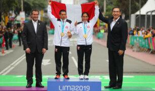 Lima 2019: Vizcarra entregó medalla de oro a Gladys Tejeda y Christian Pacheco