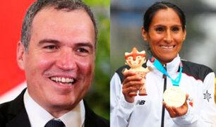Lima 2019: premier Del Solar felicitó a Gladys Tejeda por medalla de oro