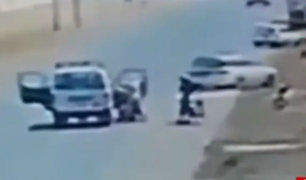 La Libertad: cámaras grabaron asalto a vehículo en Chepén