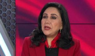 """Gloria Montenegro: """"Un país realmente desarrollado es imposible lograrlo con este Congreso"""""""