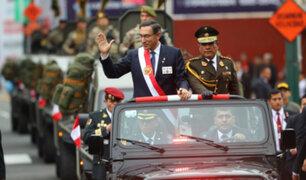 Fiestas Patrias: presidente Vizcarra encabezó Desfile Cívico-Militar