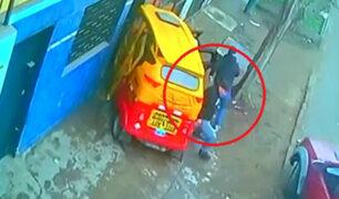 SJM: delincuentes chocan mototaxi en plena persecución