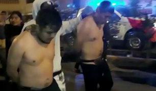 Ate: vecinos atrapan y casi linchan a ladrones que robaron a hombre