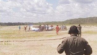 Aterrizaje forzoso de avioneta deja cuatro heridos en Ucayali