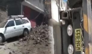 Abancay: camión sin frenos se despita y empotra contra casa destruyéndola