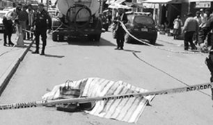 Cusco: camión cargado con cajas de cerveza aplasta a anciano y lo mata