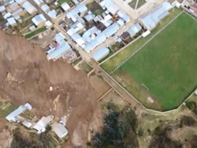 Huánuco: reportan colapso de centro de salud por falla geológica