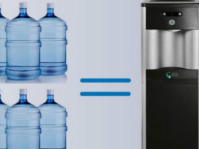 Instalan dispensadores de agua ecoamigable en distintas partes de la capital
