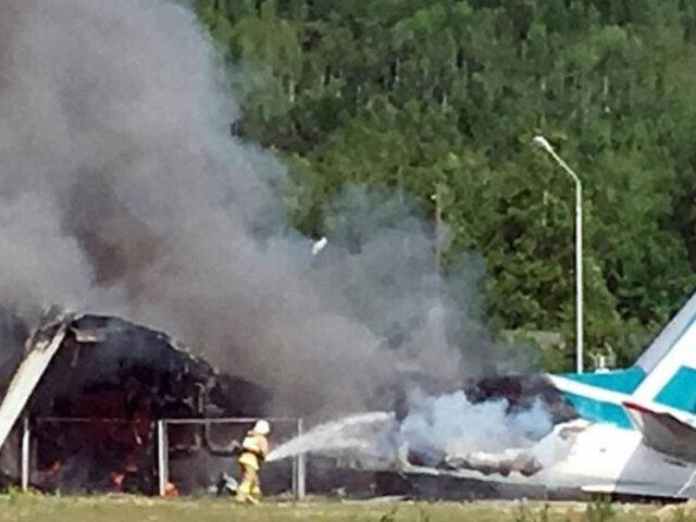 Estados Unidos: avión se estrelló contra hangar y dejó diez fallecidos