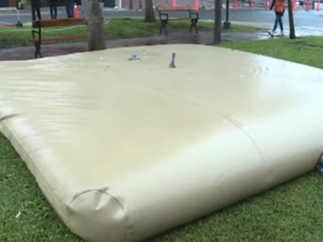 Miraflores: tanques flexibles abastecerán de agua potable a los vecinos