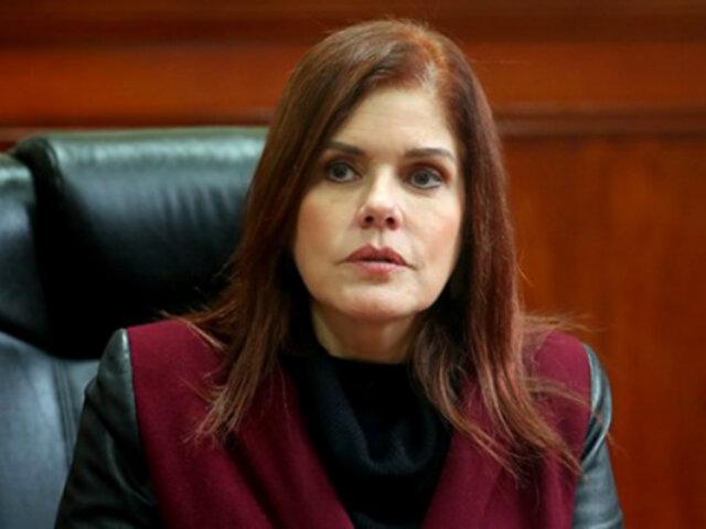 Mercedes Araoz: siempre voy a defender la democracia en mi país
