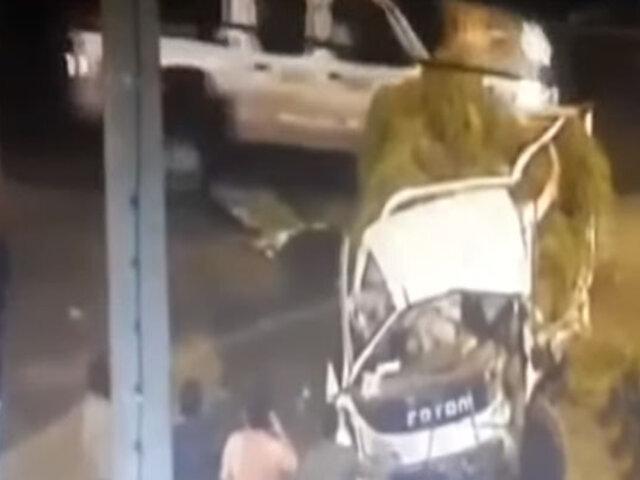 Áncash: cámaras de seguridad captaron triple choque en la Panamericana Norte