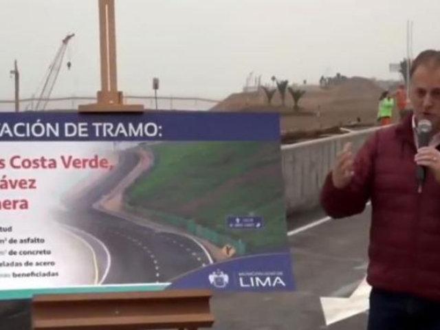 Alcalde Jorge Muñoz habilitó subida de la Costa Verde hacia el Callao