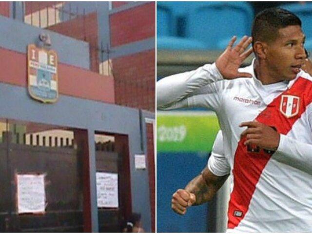 Perú vs Brasil: Edison Flores fue homenajeado en su colegio de Comas