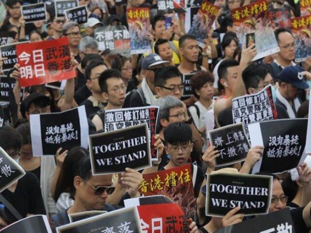 Hong Kong: miles vuelven a tomar las calles en protesta por ley de extradición