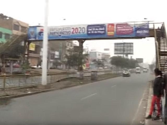 Puentes peatonales: vecinos señalan que algunos están mal ubicados