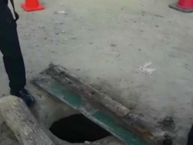 Tumbes: niña de 2 años muere tras caer a un buzón sin tapa