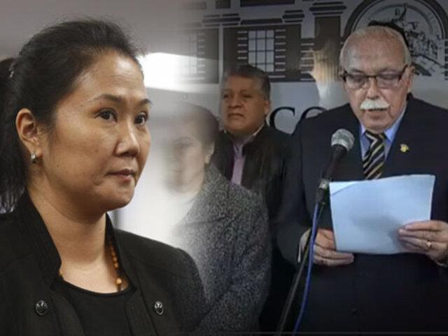 Bancada de FP afirma que Keiko es presa política y denunciará su caso