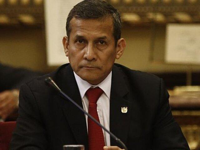 """Humala sobre allanamiento a su inmueble: """"Exigimos el cese de actos arbitrarios"""""""