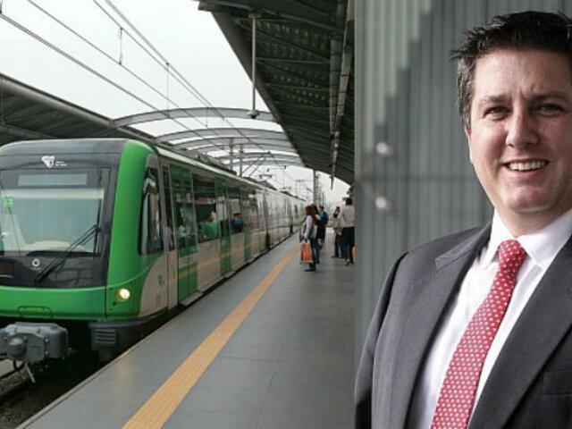Director del tren eléctrico se pronuncia tras reapertura de tramo de la Carretera Central