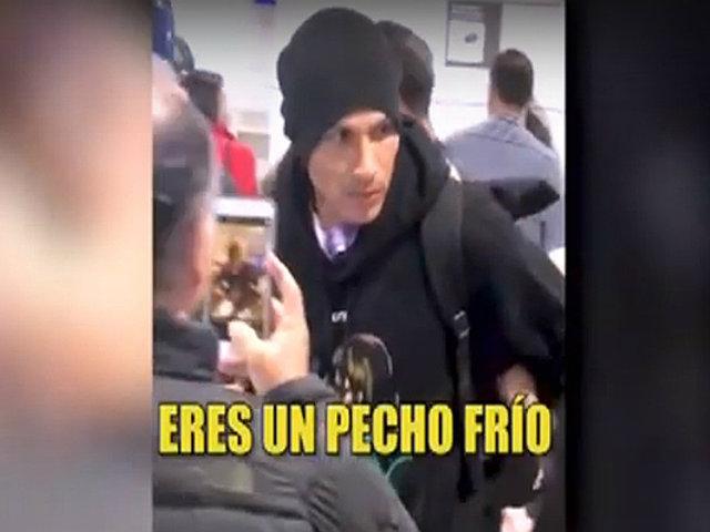 Brasil: Paolo Guerrero e hincha brasileño tuvieron un enfrentamiento