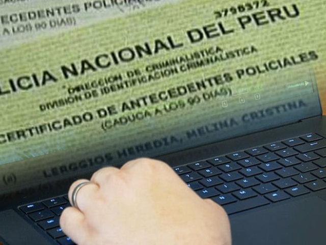 Ahora se puede tramitar antecedentes policiales a través de internet