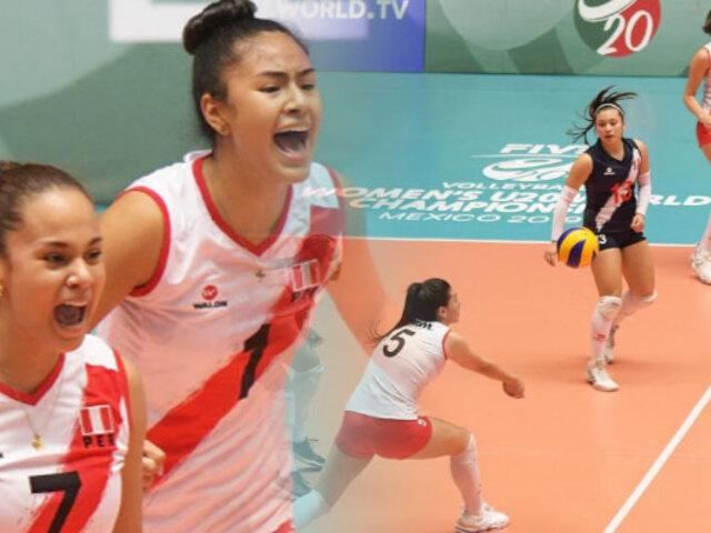 Mundial de Vóley Sub 20: Perú venció 3-2 a China en torneo que se juega en México