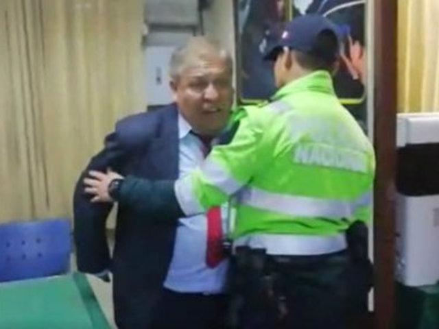 Arequipa: juez fue detenido por manejar ebrio y agredir a policía