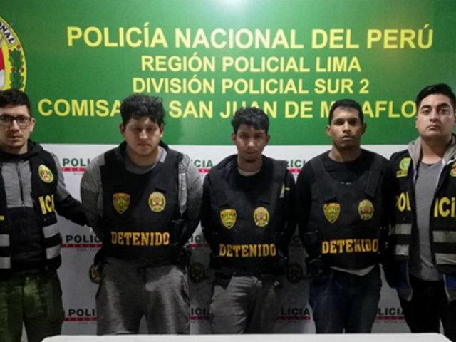 SJM: detienen a extranjeros que robaban en locales comerciales