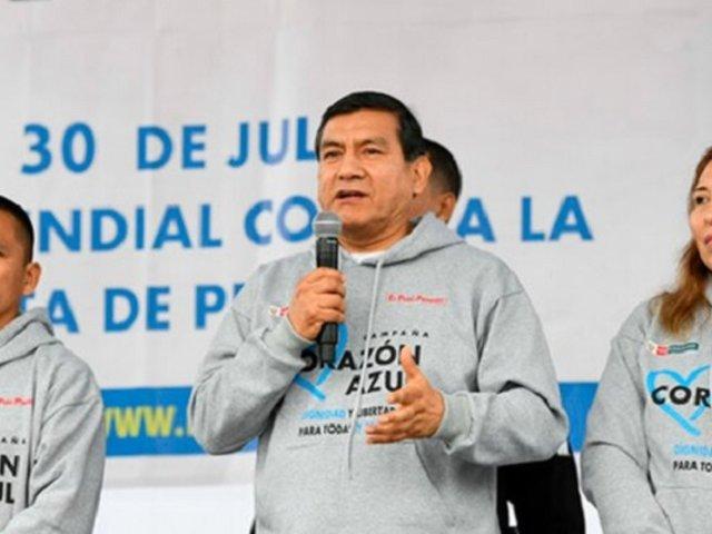 Ministro del Interior destaca trabajo en lucha contra la trata de personas