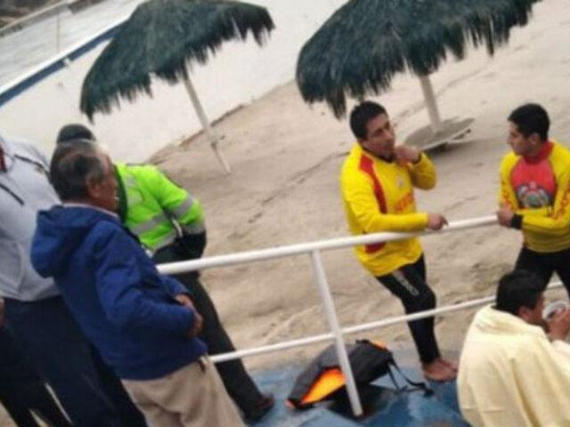 San Bartolo: rescatan a tres personas varadas en islote de playa Curayacu