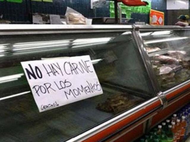 Venezuela: ciudadanos pasaron de consumir 21 kilos de carne al año a tres