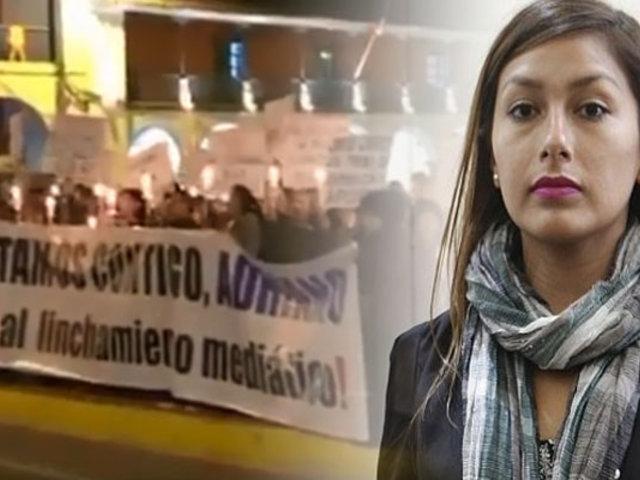 """Arlette Contreras sobre marcha a favor de su agresor: """"Estoy viviendo una pesadilla"""""""