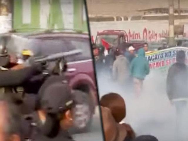 Así se desarrollaron los enfrentamientos entre vecinos y policías por obras en Ramiro Prialé