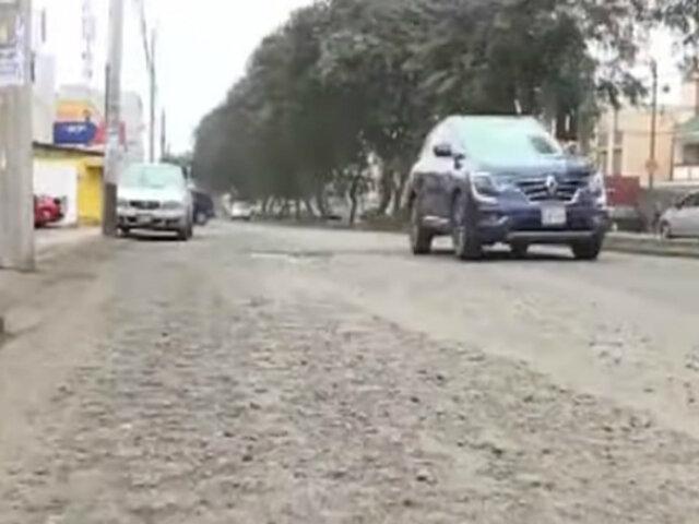 Surco: vecinos denuncian mal estado de Av. Benavides tras obras