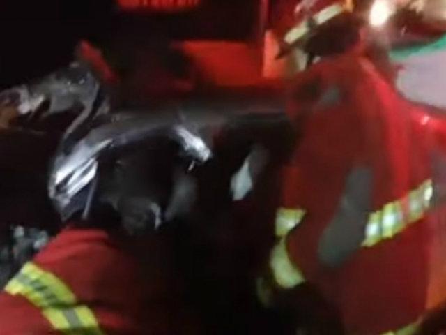 Única sobreviviente de accidente en Mala fue llevada de emergencia a Lima