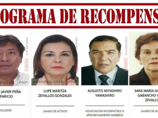 Programa de recompensas PNP: ¿quiénes están incluidos además de Zeballos y Miyashiro?
