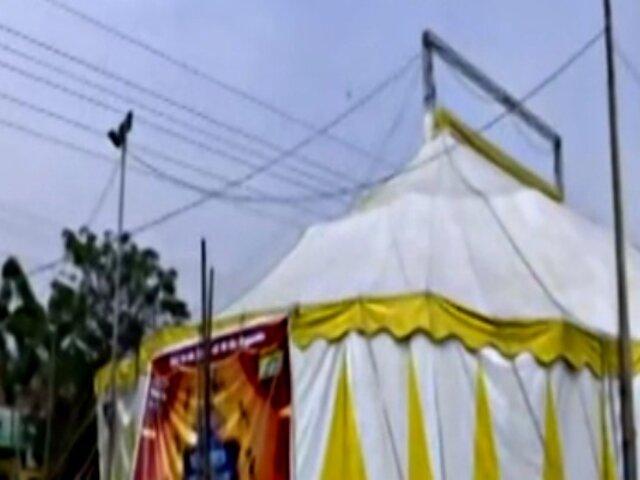 El Agustino: circo es clausurado por robar luz de postes de alumbrado público