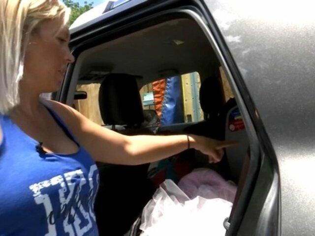 Mujer persigue a delincuentes que le robaron su auto y logra recuperarlo