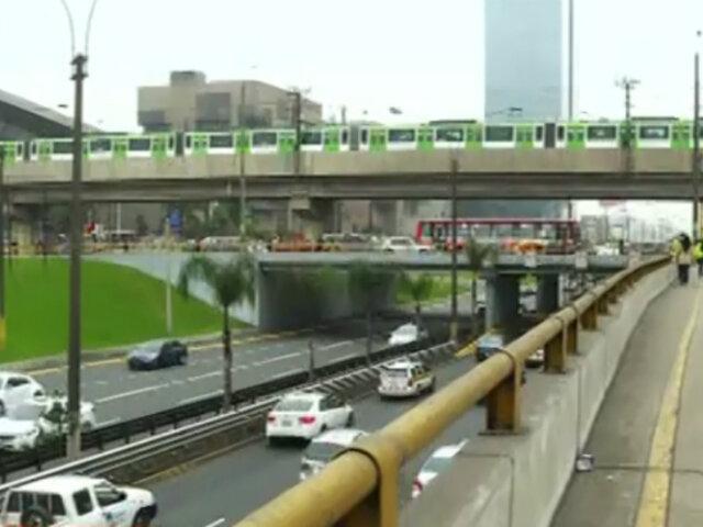 Avenida Javier Prado: puentes y barandas presentan falta de limpieza
