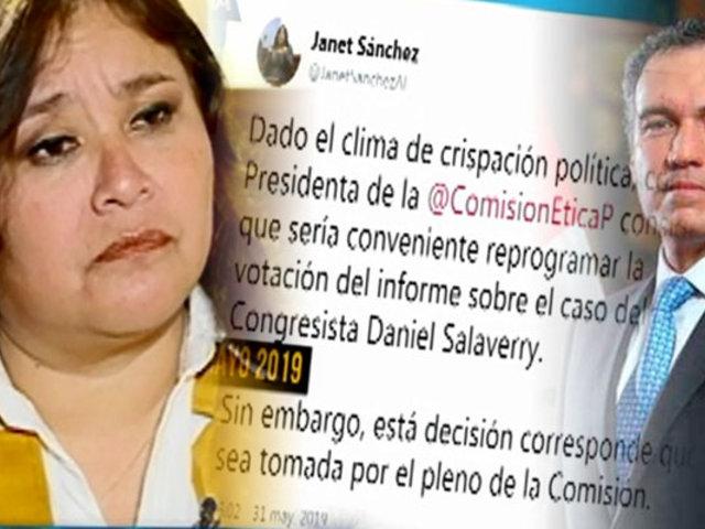 ENTREVISTA EXCLUSIVA | Janet Sánchez explica razones de su renuncia a bancada PPK