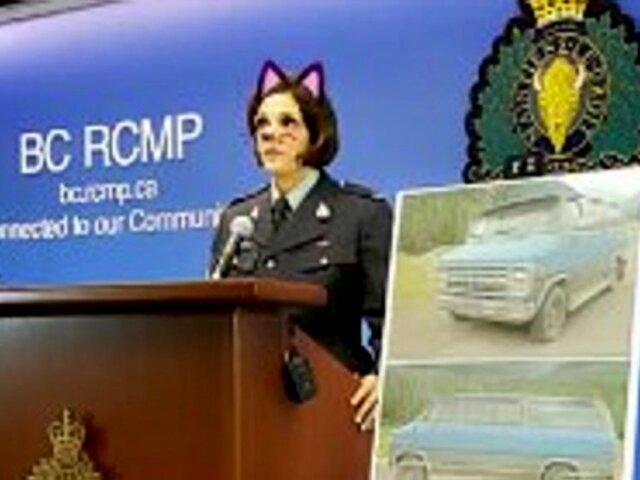 Policía canadiense transmite conferencia sobre homicidio con filtro de gato