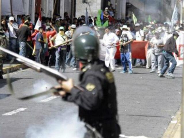 Tía María: nuevo enfrentamiento entre comuneros y policías ante llegada de Vizcarra