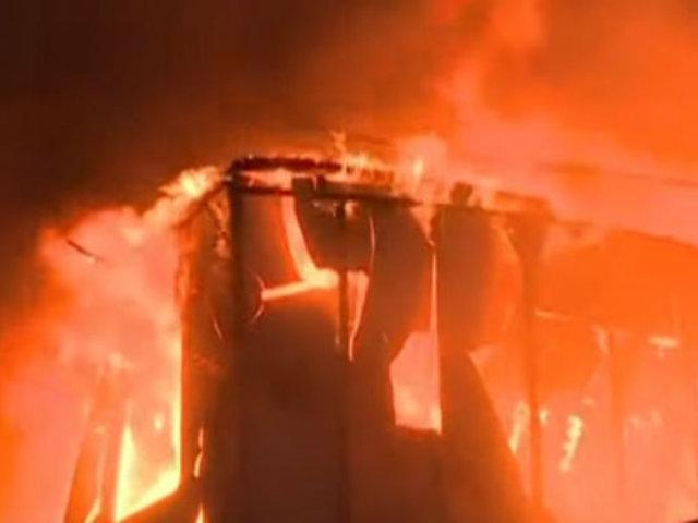 Piura: prendieron fuego a empresa petrolera china tras protestas