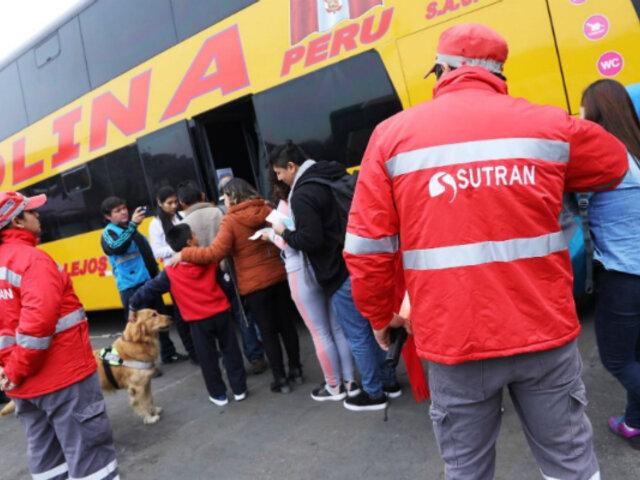 Sutran intervendrá buses informales y pasajeros serán obligados a bajar